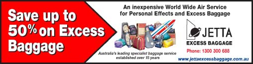 Save up to 50% on Excess Baggage. An inexpensive World Wide Air Service for Personal Effects and Excess Baggage